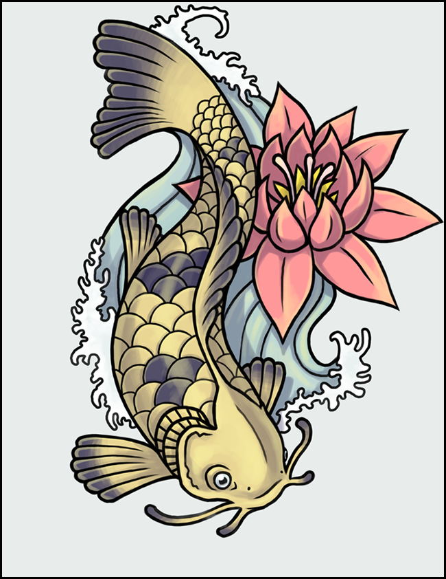 Japanese Koi Fish Tattoo Designs Gallery 31