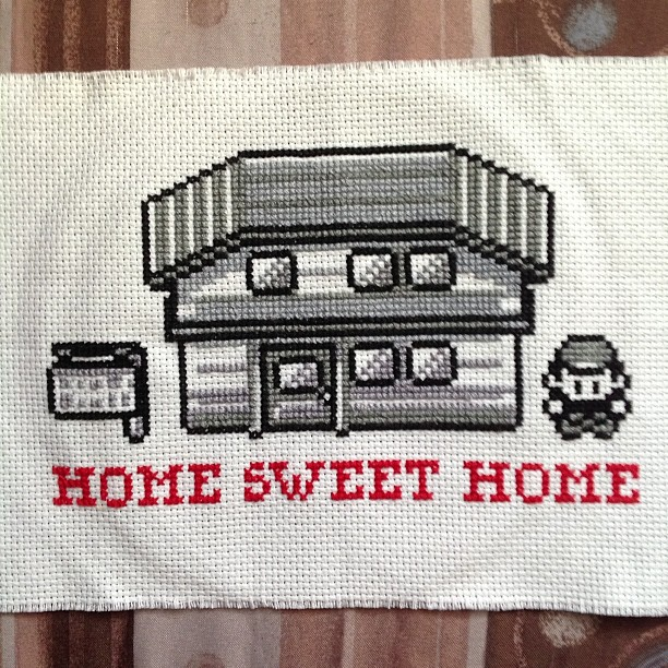 Pokemon Home Sweet Home Cross Stitch by badgercreations on DeviantArt