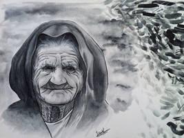 Traditional Art - Grandma Watercolor
