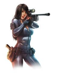 Sniper girl for Jurassic Hunter by DaniNaimare