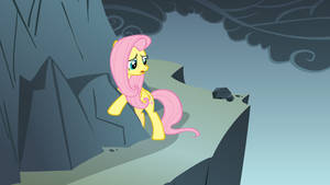 Fluttershy Hugging a Rock by TheOneWithTheOctaves