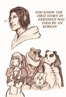 APH-The Girl and Three Beasts by redblacktac