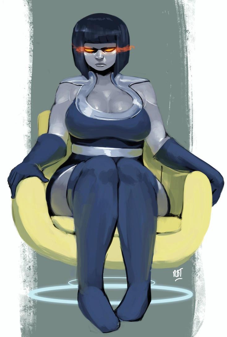 Lady Darkseid by redblacktac