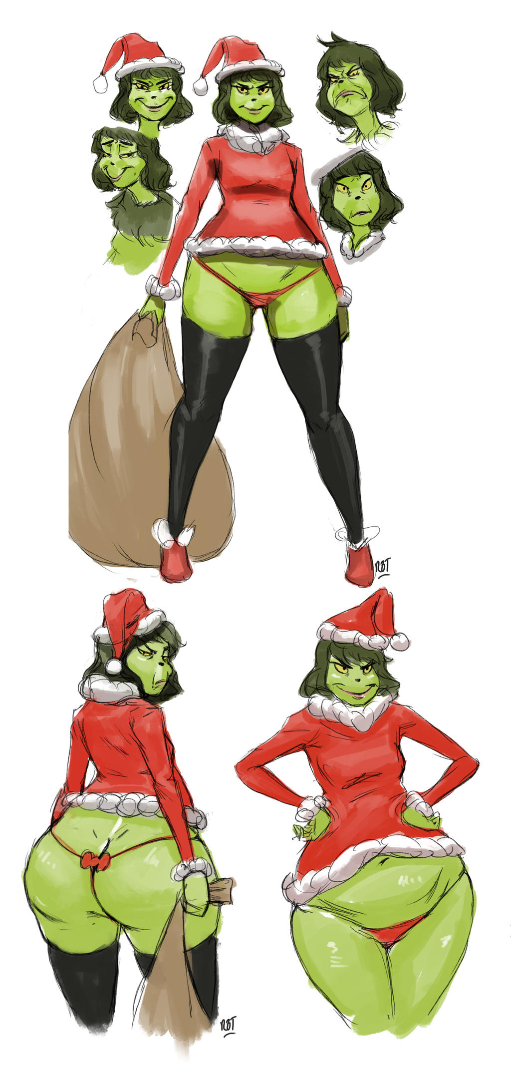 Sexey Woman Grinch ...