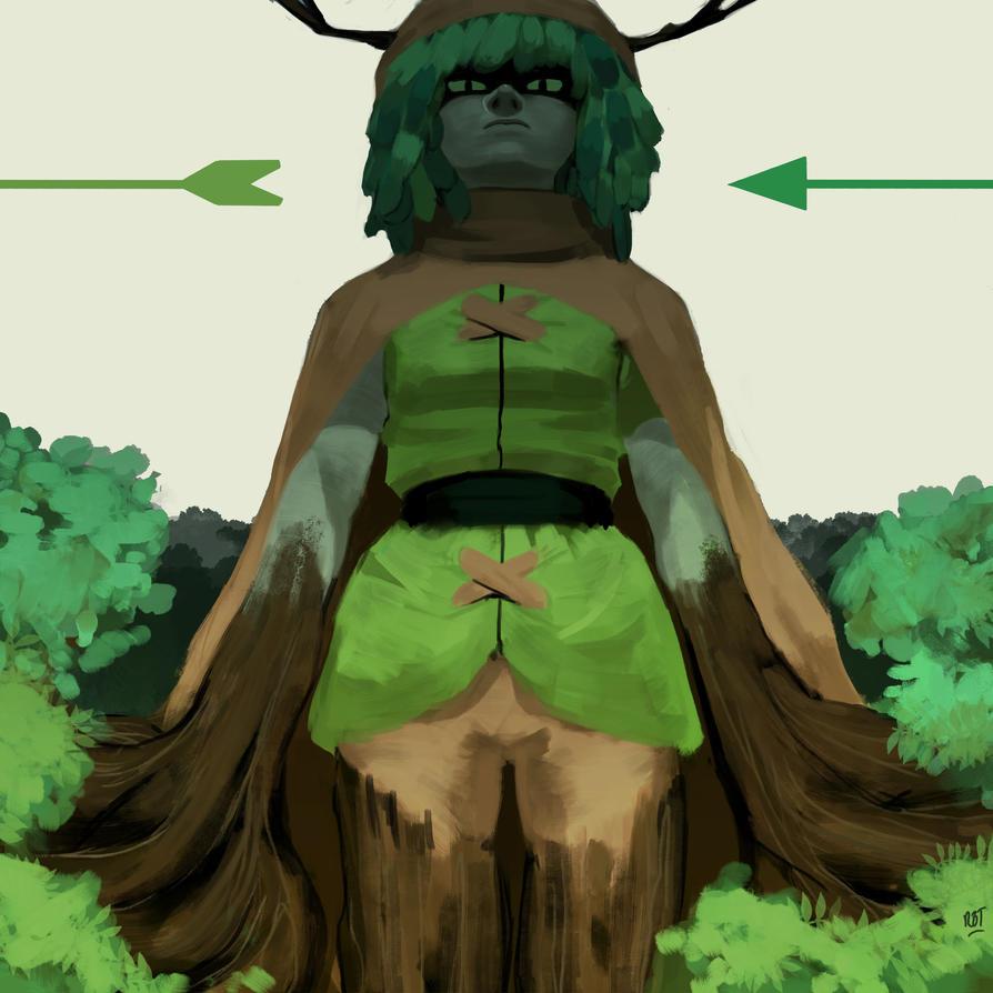 Huntress Wizard by redblacktac
