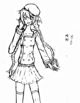 Request: Rika-chan!--Lineart.