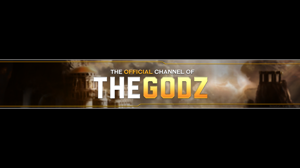 TheGodz - Youtube Banner Template by AllisonArgentHF on DeviantArt