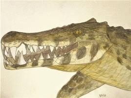 Karposuchus portrait by Pappasaurus