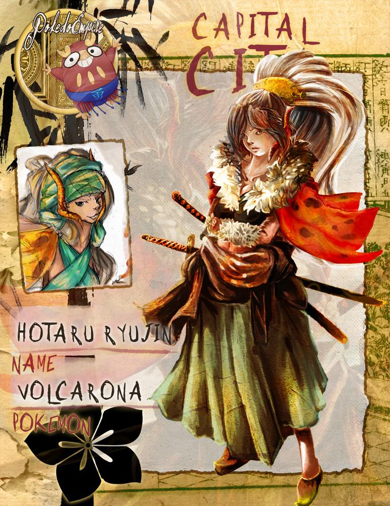 Pokedo Volcarona Hotaru by Cruzu