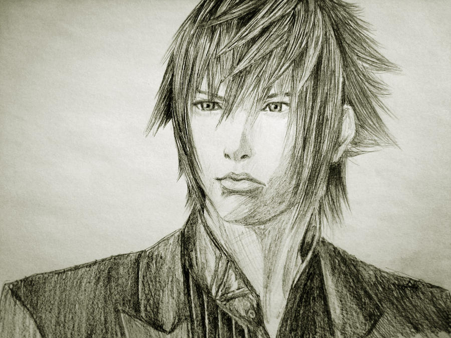 Noctis drawing Ive just finished  FinalFantasy
