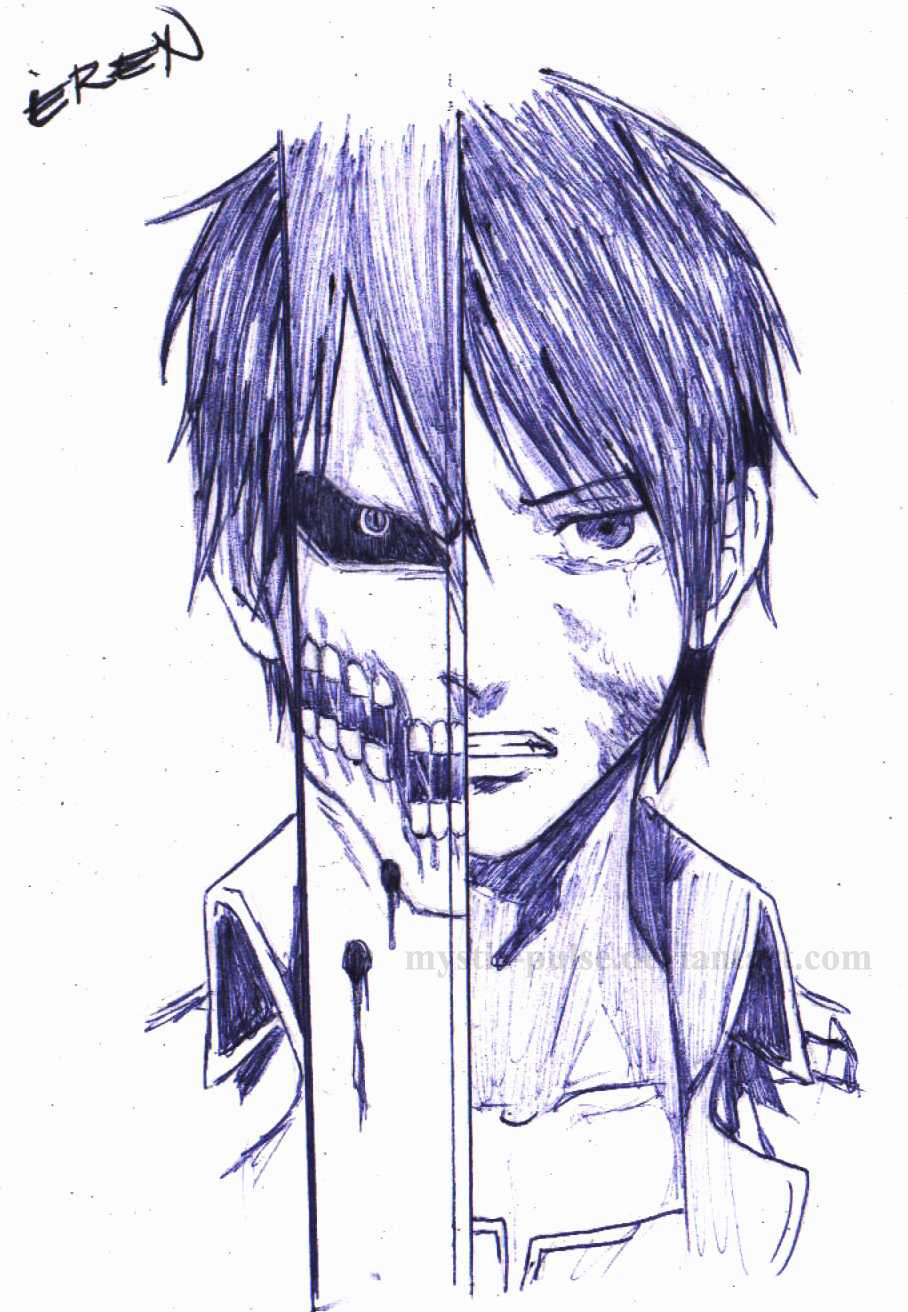 Attack On Titan Eren Drawing Eren jaeger  shingeki noEren Jaeger Drawing