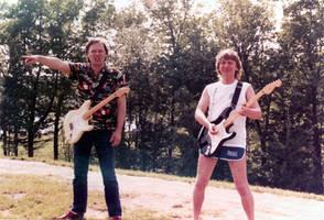 David Gilmour and Mick Ralphs