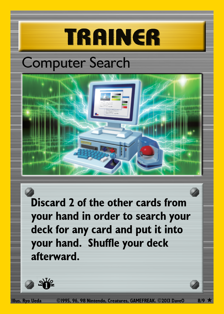 8 Of 9 Computer Search Custom Pokemon Card By Iamthedaveo