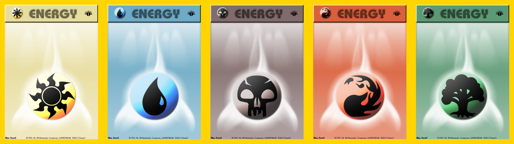 Pokemon Or Magic The Gathering Mana Energy Cards By Iamthedaveo On