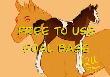 [F2U] Foal Base Lineart - Free To Use