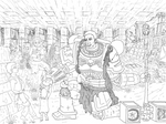Salamander Space Marine Meeting Family - Lineart by ChristopherLine