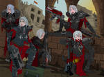 Sisters of Battle resting by ChristopherLine