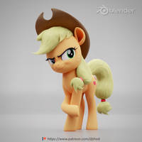 <b>Applejack Poster Render</b><br><i>TheRealDJTHED</i>