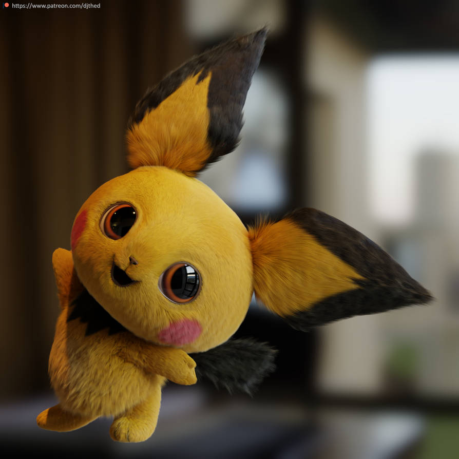Realistic Pichu Render By Therealdjthed On Deviantart