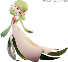 Graceful Gardevoir Render by TheRealDJTHED