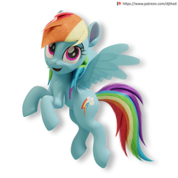 Flying Rainbow Dash by TheRealDJTHED