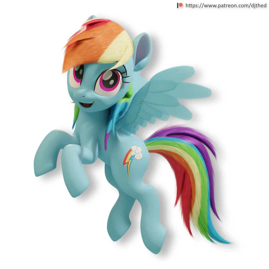 Flying Rainbow Dash Version 1 by TheRealDJTHED