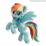 Flying Rainbow Dash Version 1