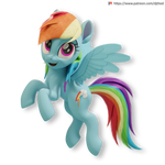 Flying Rainbow Dash Version 2