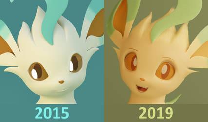 Leafeon 2015vs2019 Comparison