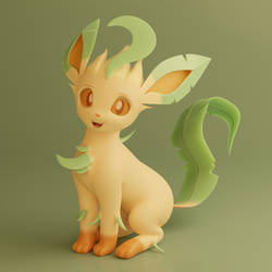 New Leafeon Model and Profile Picture Render by TheRealDJTHED