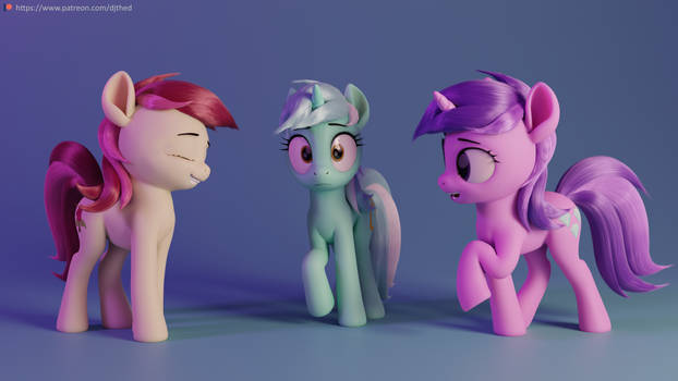 Background Char Render 1 (Rose, Lyra, Amethyst)