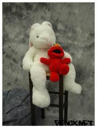 Elmo loves Mr. Bunny