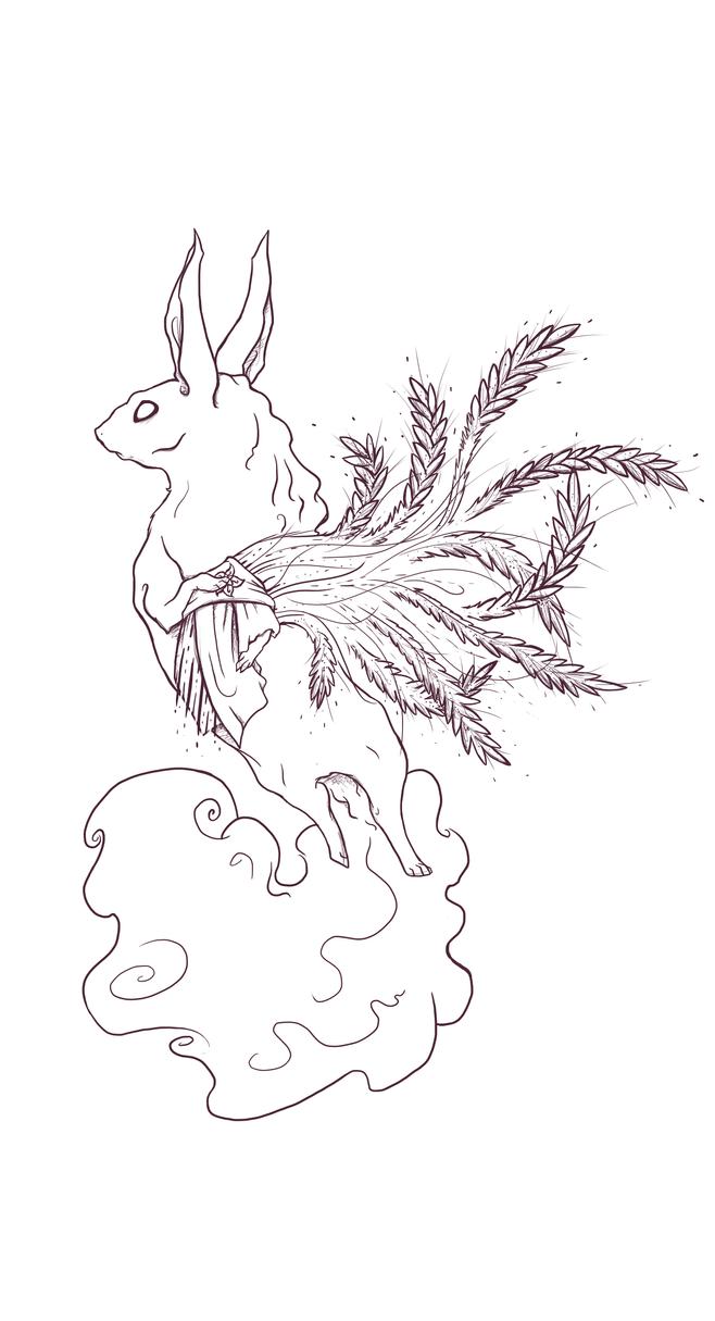 Demetre the Rabbit -Line Art by Osioxana