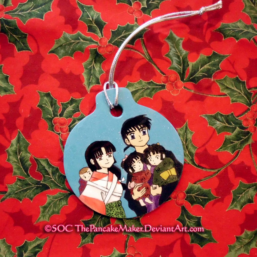 Sango Miroku Family Ornament by ThePancakeMaker