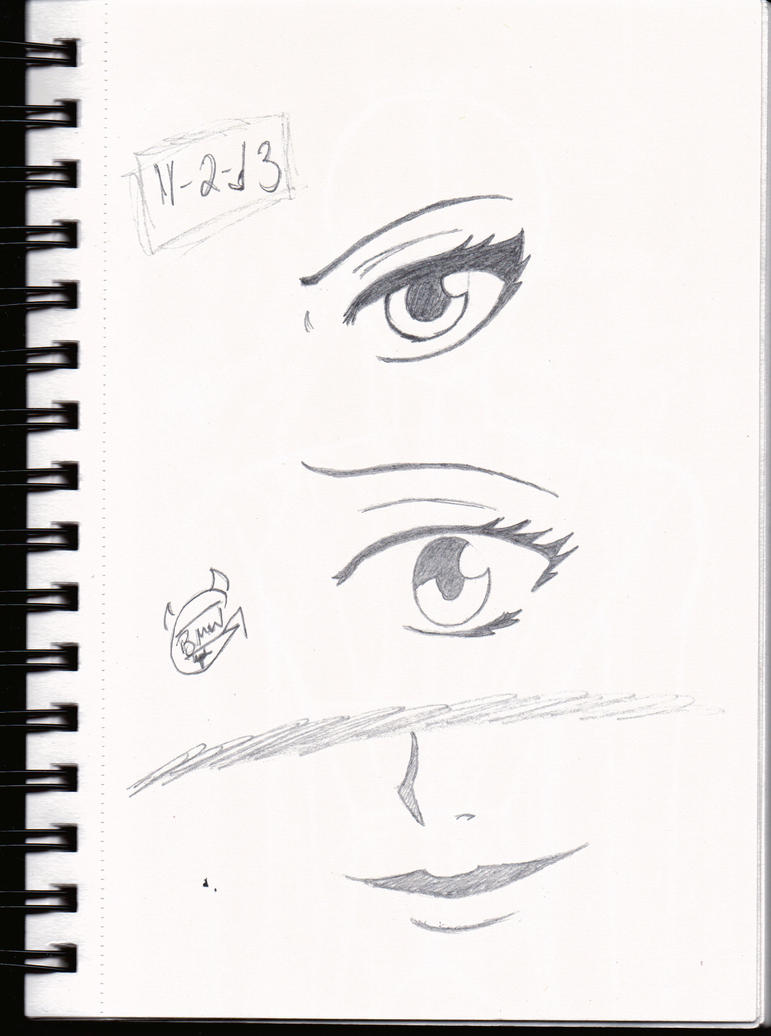 Attractive Female Eye Sketch by LauraRedfield06