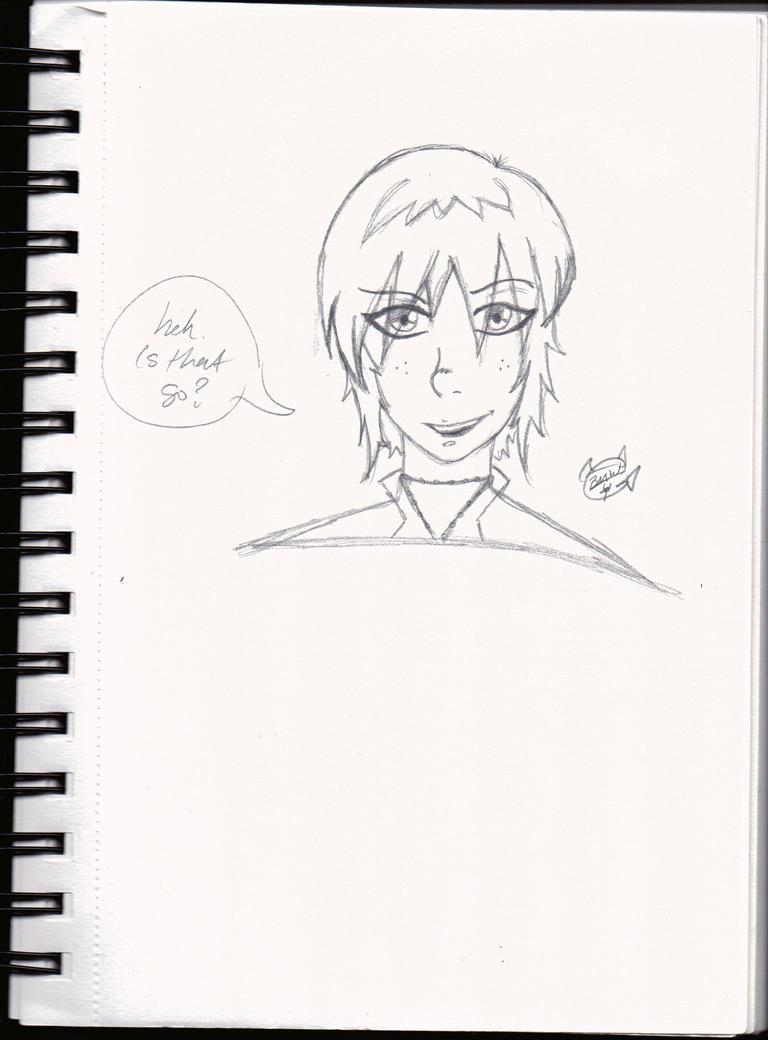 Random girl sketch 01 by LauraRedfield06