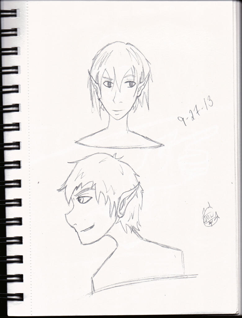 Random bust sketch 01 by LauraRedfield06