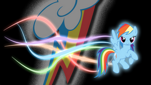 RainbowDash Glow wallpaper