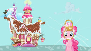 Pinkie Pie Broke The Wall Again - Wallpaper