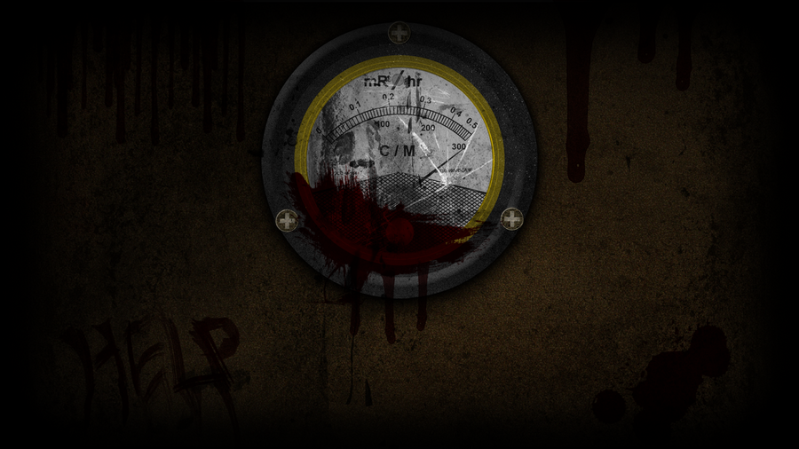 Bloody Geiger Counter - Wallpaper by GuruGrendo