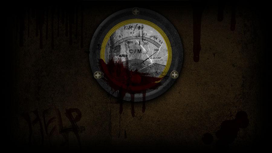 Bloody Geiger Counter - Wallpaper