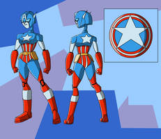 Robo Commish: Captain America by Gryphman