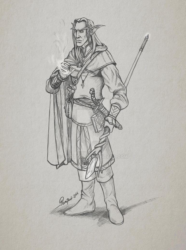 Elven Mage by Birdtear