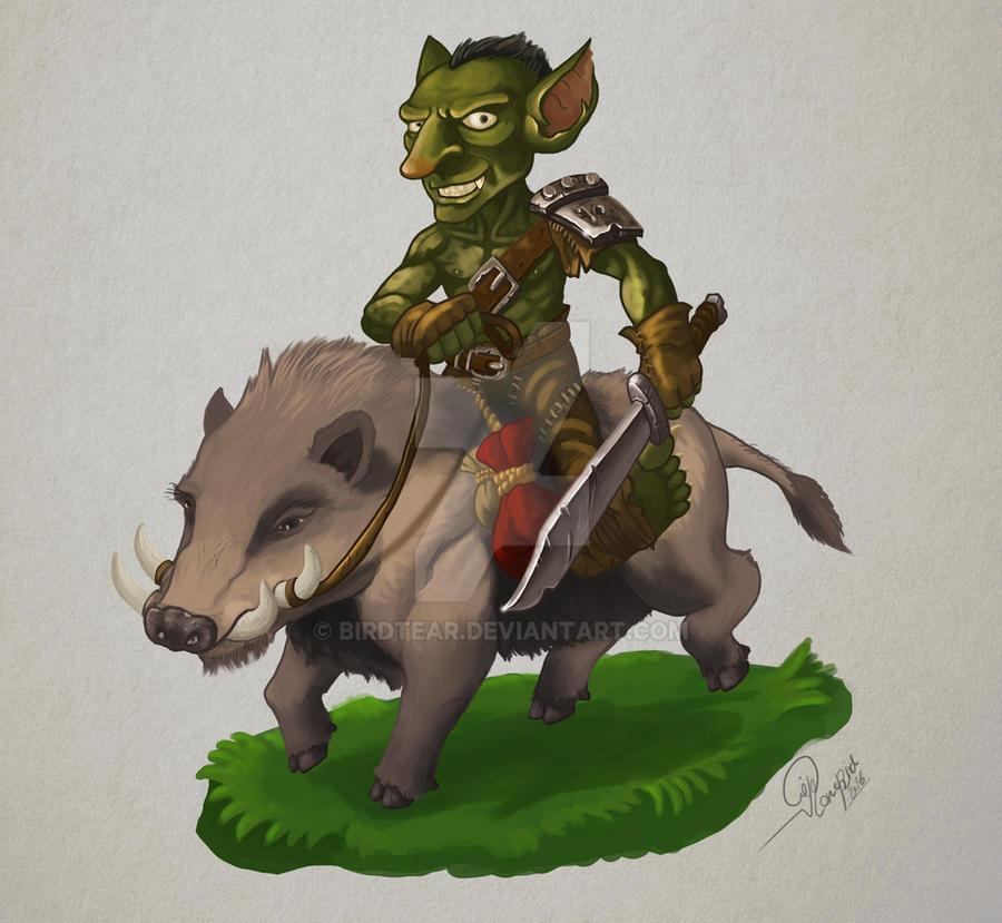 Goblin Boar Rider by Birdtear