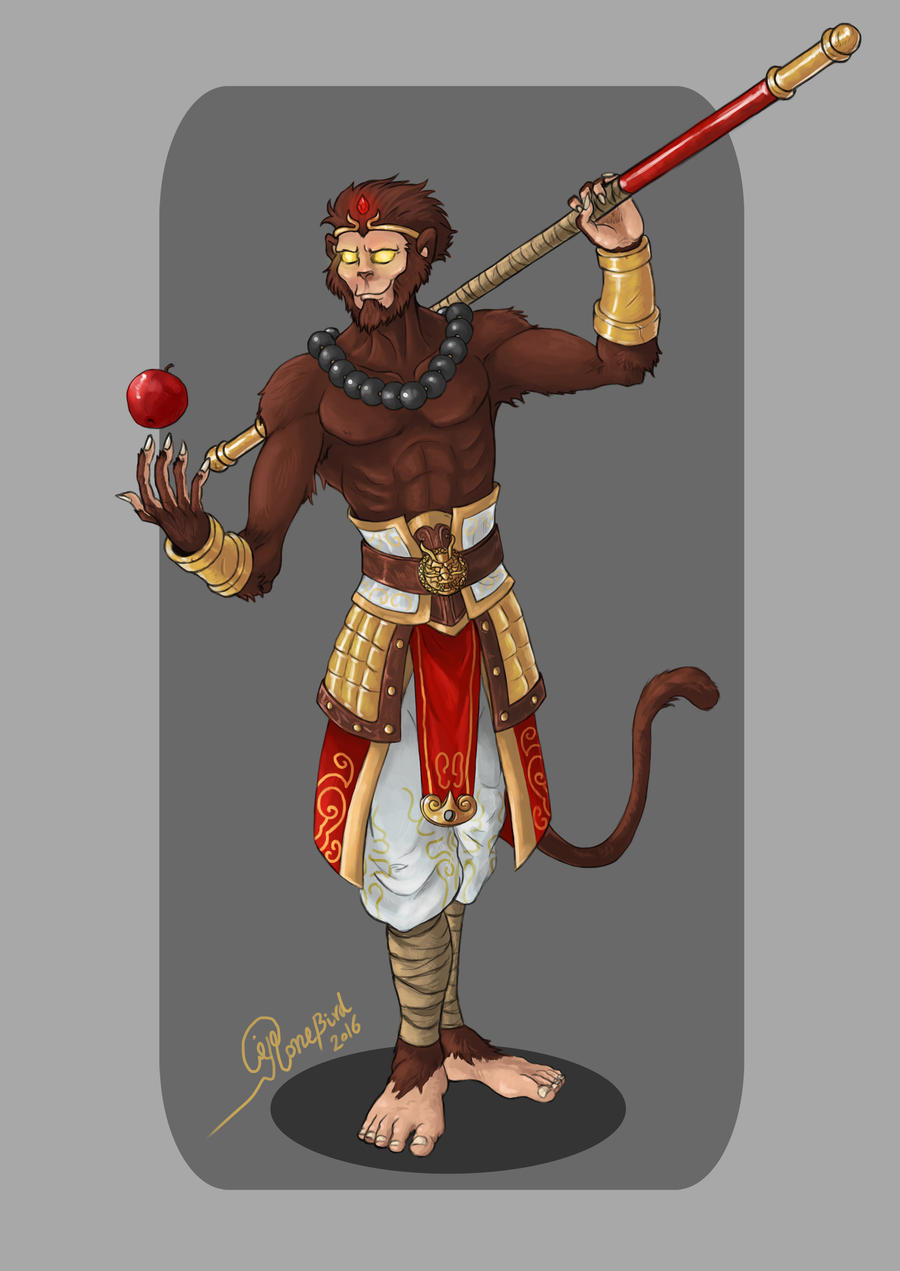 This is a photo of Superb Sun Wukong Drawing
