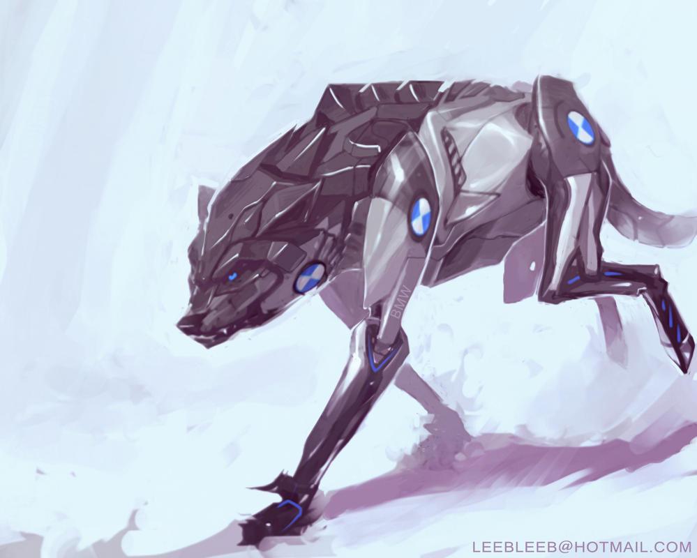 BIONIC MECHA WOLF by leebleeb