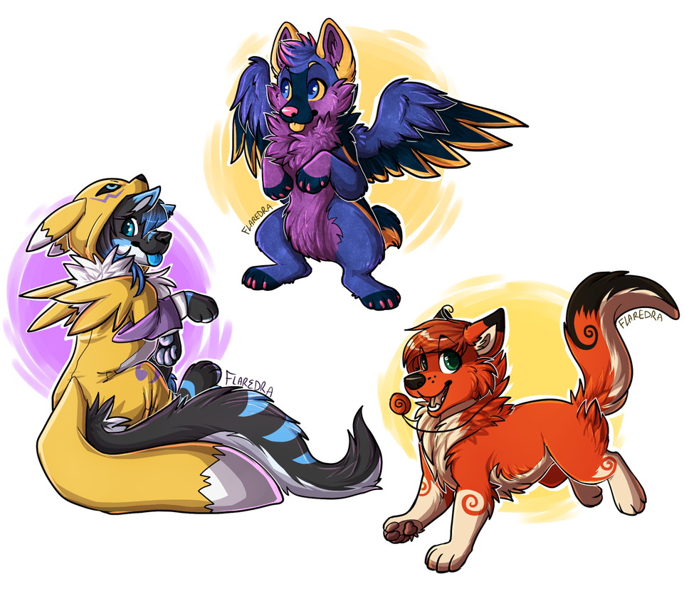 FA chibs by Amathaze