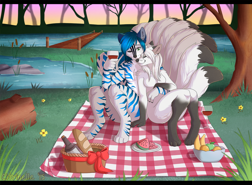 A relaxing picnic by RupeeCat