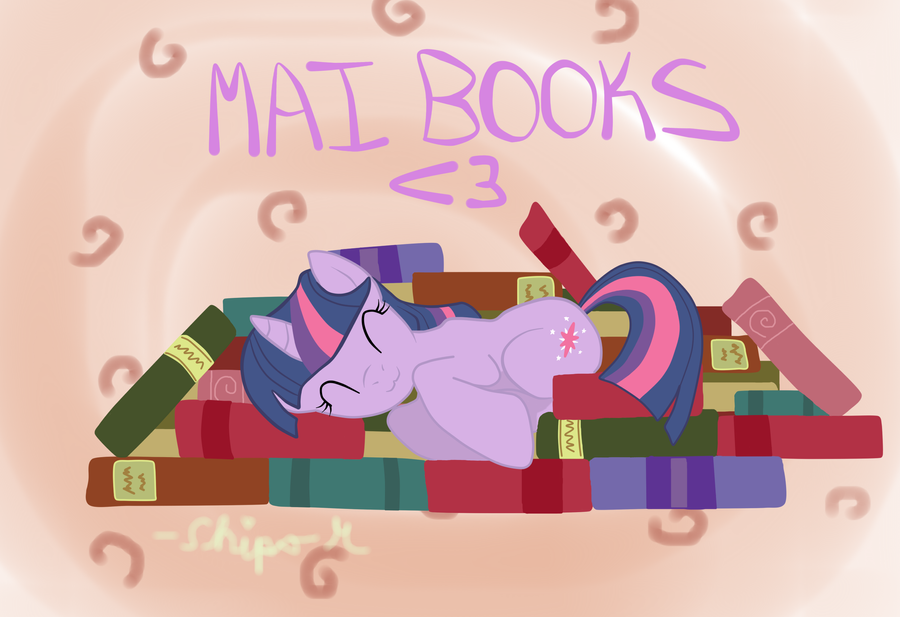 Mai Books :3 by TuliothePillbug