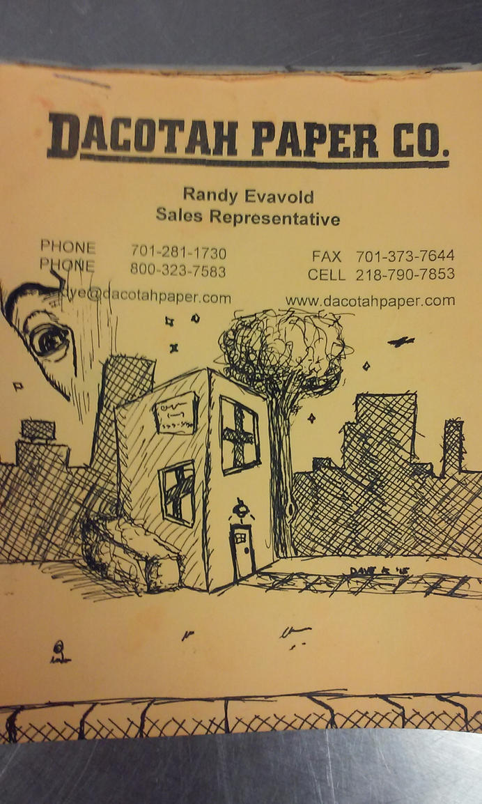 random city scape, work doodle by boyo1991